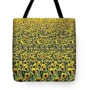 Flying Over Sunflower Fields Tote Bag