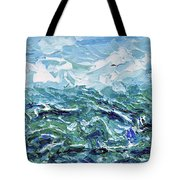 Flying Overseas Tote Bag