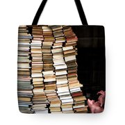 Flying Pigs And Books Tote Bag