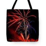 Flying Prom Fireworks Tote Bag