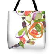 Flying Salad Tote Bag
