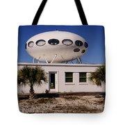 Flying Saucer House Tote Bag