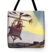 Flying Sentinel, 1900s French Postcard Tote Bag