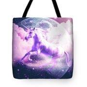 Flying Space Galaxy Unicorn Tote Bag
