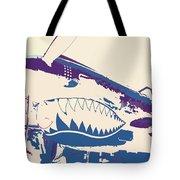 Flying Tiger Blue Purple  Tote Bag