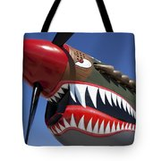 Flying Tiger Plane Tote Bag