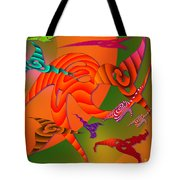 Flying Triangles Tote Bag