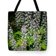 Foam Flower Tiarella Cordifolia Tote Bag