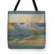 Foaming Ocean Waves Tote Bag