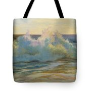Foaming Waves At Beach Tote Bag