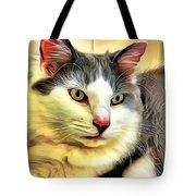Focused Feline Tote Bag