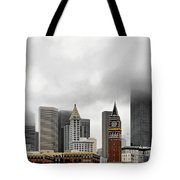 Fog Accents Of Seattle Wa Tote Bag