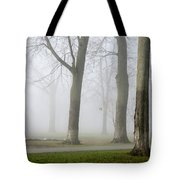 Fog Amongst The Trees Tote Bag
