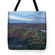 Fog And Fall Colors Tote Bag