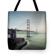 Fog And The Bridge Tote Bag