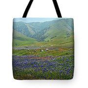 Fog And Wildflowers At Bear Mountain Tote Bag