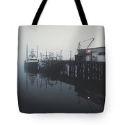 Fog Before Sunrise Tote Bag