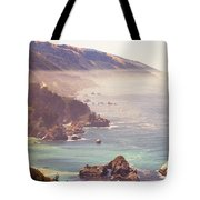 Fog Big Sur Tote Bag