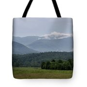 Fog Forming In The Mountains Tote Bag