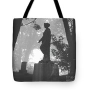 Fog In The Cemetery Tote Bag