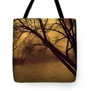 Fog In The Morning. Tote Bag