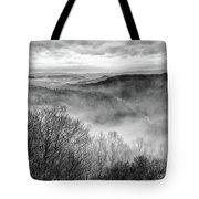 Fog In The Mountains - Pipestem State Park Tote Bag