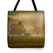 Fog In The Park Tote Bag
