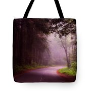 Fog In The Redwoods Tote Bag