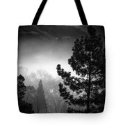 Fog In The Trees Tote Bag
