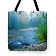 Fog In The Wenatchee Forest Tote Bag