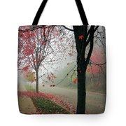 Fog On A November Morning Tote Bag