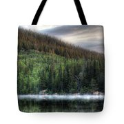 Fog On Bear Lake Tote Bag