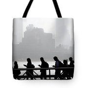 Fog On The Hudson Tote Bag