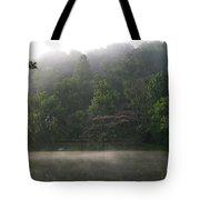 Fog On The Lake Tote Bag