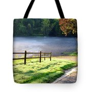 Fog On The River Tote Bag
