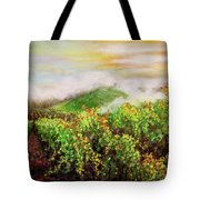 Fog On The Vines Tote Bag