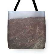 Fog Over The Hill Tote Bag