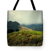 Fog Over The Lagoon Tote Bag