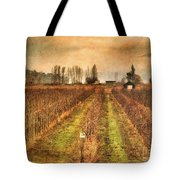 Foggy Afternoon On Highway 97 Tote Bag
