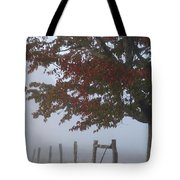 Foggy Autumn Morning In Cades Cove Tote Bag