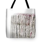 Foggy Beachpole Number 8 Tote Bag