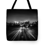 Foggy Cityscape  Tote Bag