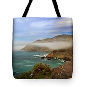 Foggy Day At Big Sur Tote Bag