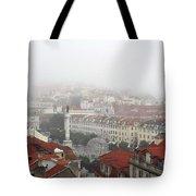 Foggy Day At Lisbon. Portugal Tote Bag