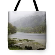 Foggy Day At Loch Lubnaig Tote Bag