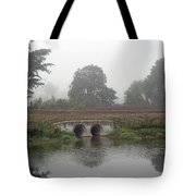 Foggy Day On A Canal Tote Bag