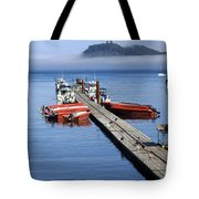 Foggy Dock Tote Bag