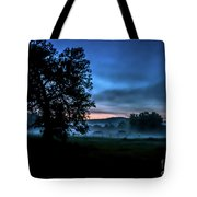 Foggy Evening In Vermont - Landscape Tote Bag
