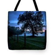 Foggy Evening In Vermont - Portrait Tote Bag
