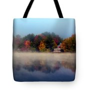 Foggy Fall Reflections Tote Bag